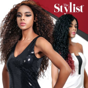 The Stylist Synthetic Lace Front Wig Hand-Tied Curved Part Curls That Rock