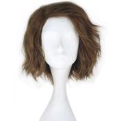 Miss U Hair Movie the Dark Knight Joker Short Wavy Flax Colour Anime Cosplay Wig