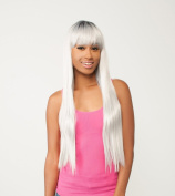 LOVE (SILVER grey) - THE WIG 100% BRAZILIAN HUMAN HAIR BLEND WIG