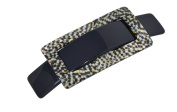 French Amie Rectangular Celluloid Handmade Opera Buckle Hair Clip Barrette 8.9cm