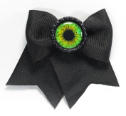 Women's Project Pinup Eyeball Bottle Cap Hair Clip Black/Green
