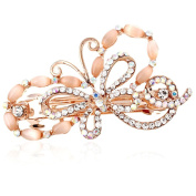 HSL Colourful Crystal Rhinestone Bowknot Hairpin For Hair Clip Tools-Orange