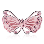 HSL Highgrade butterfly Acetate Rhinestone Hairpin For Hair Clip Tools-Pink