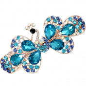 HSL Korean Style Vintage Peacock Crystal Top Hairpin For Hair Clip Tools-Blue