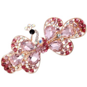 HSL Korean Style Vintage Peacock Crystal Top Hairpin For Hair Clip Tools-Pink