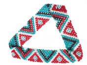 WigsPedia Native American Pattern Elastic Stretch Seed Bead Beaded Headband Hair Accessories