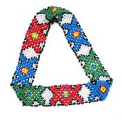 WigsPedia Native American Pattern Elastic Handmade Stretch Seed Bead Beaded Headband Hair Accessories