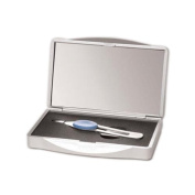10x Magnifying Compact Mirror with Tweezer