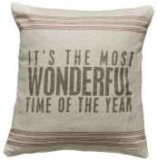 Primitive Style Its the Most Wonderful Time of the Year Throw Accent Pillow