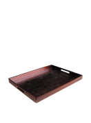 Accents by Jay Alligator Rectangle Tray, Wine