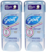 Secret Outlast Clear Gel Antiperspirant & Deodorant, Sport Fresh, 80ml, 2pk