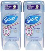 Secret Outlast Clear Gel Antiperspirant & Deodorant, Sport Fresh, 80ml, 2pk