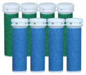 Emjoi Micro-pedi Replacement Refill Rollers (4 Xtreme Coarse+4 Extra Coarse) - Pack of 8