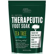 Tea Tree Oil Foot Soak with MSM, Neem & Epsom Salt 470ml Helps Soak Away Athletes Foot, Nail & Toenail Fungus, Foot Odour & Soften Calluses. Natural Care for Skin Irritation & Soothing Sore, Achy Feet