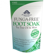 Antifungal Tea Tree Oil Foot Soak with Epsom Salts Helps to Treat Athletes Foot, Nail Fungus, Deodorises Foot Odour and Softens Callouses- Detox and Refresh Tired and Sore Feet- Invigorate Your Senses with Peppermint Herbal Blend- Mountainbreeze Natura ..