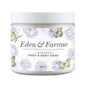Eden & Farrow Lavender Foot Soak with Epsom Salts 470ml Foot & Body Care for Tired Skin.