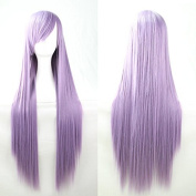 Aimer 80cm Heat Resistant Straight Hair Light Purple Colour Spiral Cosplay Wigs for Women Girls