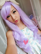 Aimer 80cm Heat Resistant Hair Light Purple Colour Spiral Cosplay Wigs for Women Girls