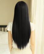 Yaheetech 60cm Straight Long Black Wig Hair