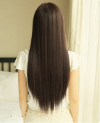 Yaheetech 60cm Straight Long Black Wig Hair
