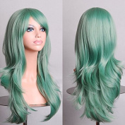 Aimer 70cm Heat Resistant Hair Mint Green Colour Spiral Cosplay Wigs for Women Girls