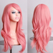 Aimer 70cm Heat Resistant Hair Pink Colour Spiral Cosplay Wigs for Women Girls
