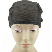 MsFenda Lace Wig Making Cap, Glueless Wig Cap, Weaving Mesh Net Cap, flexible Wig Cap, 3pcs/lot