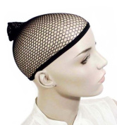3 Packs Open End Black Mesh Net Wig Cap Liner
