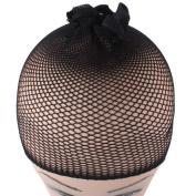EUBUY 8pcs Black Elastic Strethable Wig Cap Mesh Cospaly Hair snood cap