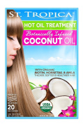 Botanically Infused Coconut Hot Oil Treatment (100% Organic with Biotin, Horsetail and Amla) 4 Pack