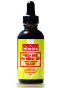Virgin Hair Fertiliser Oil 60ml - Roots and Scalp Treatment for Thinning or Breaking Hair | Natural Hair Products | African American Hair Products | Enriched with Jamaican Black Castor Oil