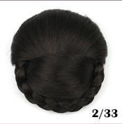 New Arrival Braided Clip in Hair Bun, Chignon Hairpiece, Donut Roller Bun Hairpiece, 1pc