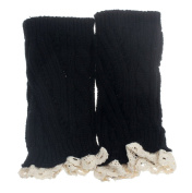 TOOPOOT® Women Crochet Knitted Lace Trim Boot Cuffs Leg Warmer Socks