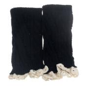 TOOPOOT® Women Crochet Knitted Lace Trim Boot Cuffs Leg Warmer Socks
