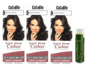 Cosamo -Love Your Colour- Ammonia & Peroxide Free Hair Colour #765 Medium Brown (Pack of 3) with One Jarosa Beauty Bee Organic Peppermint Lip Balm 100% All Natural Deep Moisturising Usda Certified