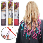 Joyous Professional Waxy Hair Chalk Pens Hair Chalk Salon Temporary Hair Colour Dye Touch-up