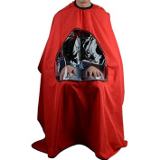Silvercell Barbers Hair Cutting Cape Gown Viewing Window Hairdressing Clothes Red
