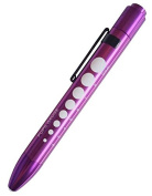 EMI PURPLE Aluminium LED Pupil Gauge Click Penlight