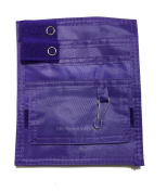 EMI Nylon 5 Pocket Organiser - PURPLE EAO-314-P