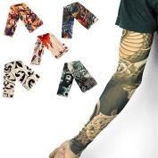 Hot Man Fake Body Temporary Tattoo Arm Stocking Sleeves
