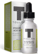 Hyaluronic Acid Serum for Face with Peptides, Jojoba Oil, Vitamin E & Witch Hazel; Reduce Wrinkles & Sun Spots; Natural & Organic