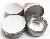 Moyishi 60ml PET Silver Metal Aluminium Jar w/aluminium Cover Mini Jar