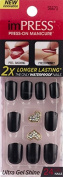 """**NEW 2015** KISS imPRESS """"TEXT APPEAL"""" 2x Longer Lasting Short Nails by Broadway Press-On Manicure Nails"""