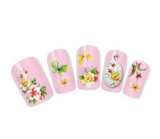 NiceDeco - nail stickers nail tattoo nail deacl water transfers decals mixed flowers butterflies
