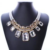 YAZILIND Charm Pendant Chain Crystal Choker Chunky Bib Statement Short Necklace Collar