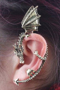 Gold Dragon Ear Cuff Earring Fashion Jewellery Retro Costume Accessory
