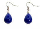 Handmade Lapis lazuli Gemstone Drop Earrings (Organza Gift Pouch Included).