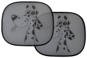 Cheeky Dog Car Window Sun Shade (2 pk) - Easy Fit. Will Fit Most Cars.