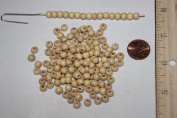 Natural (Polished) Wood Beads - Pack of 1000 Beads - Available in 4 Shapes - 5mm, 6mm, 8mm Round & 8mm Disc