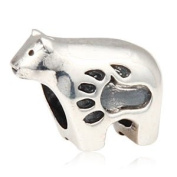 Polar Bear with Paw 925 Sterling Silver Bead Fits Pandora Charm Bracelet